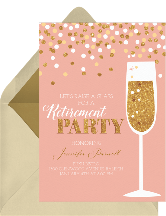 champagne confetti invitations greenvelope com
