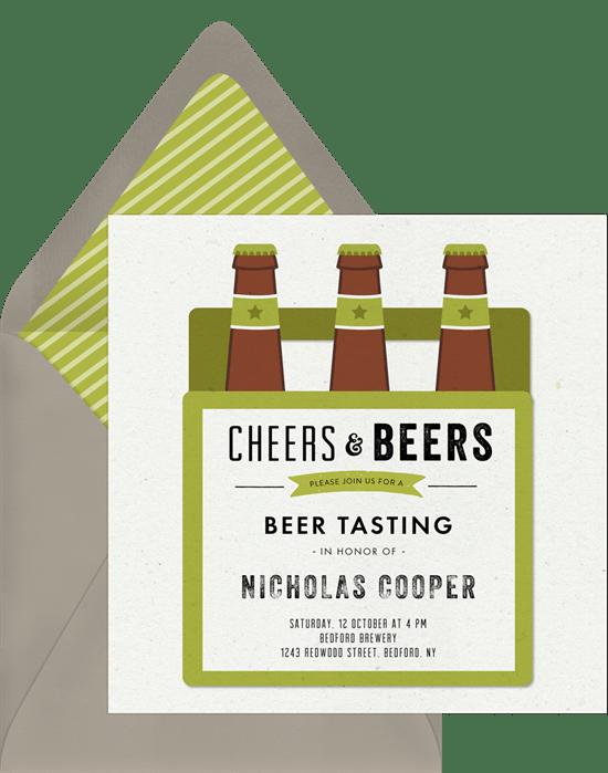Cheers Beers Invitations
