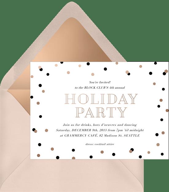 chic confetti invitations greenvelope com