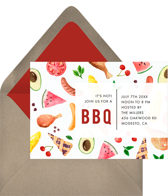 classic bbq invitations in white greenvelope com