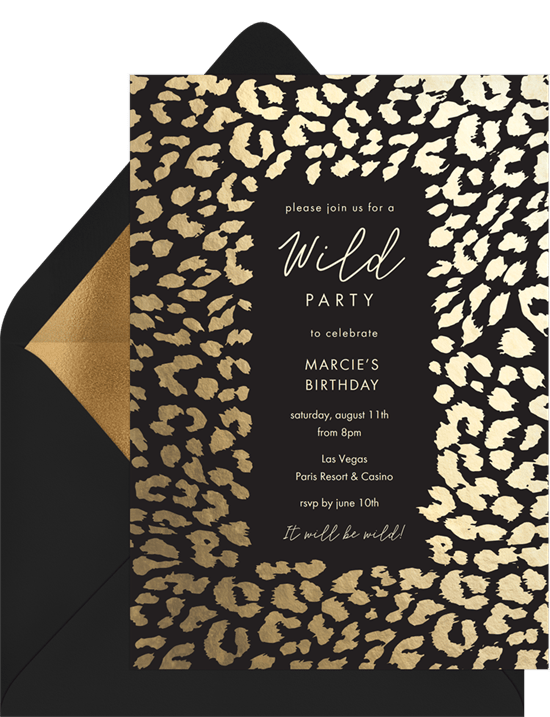 Clic Cheetah Print Invitations Greenvelope