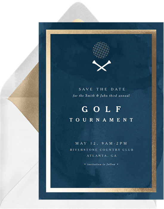 retirement open house happy hour golf business save the dates