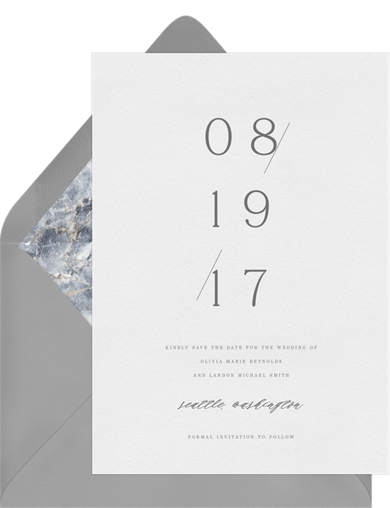 clean and elegant save the dates greenvelope com