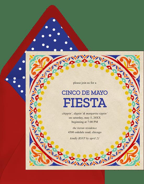 Colorful Fiesta Invitations in Yellow Greenvelopecom