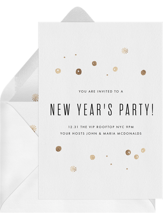 confetti cheer invitation