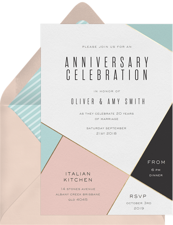 contemporary chic invitations in pink greenvelope com