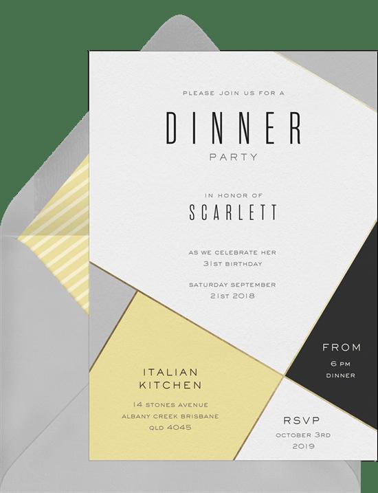 contemporary chic invitations in yellow greenvelope com