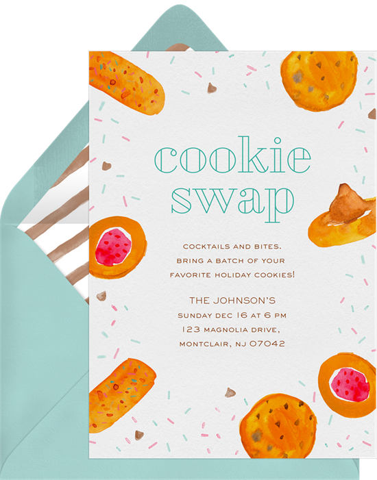 Cookie Swap Invitations In Orange Greenvelope Com