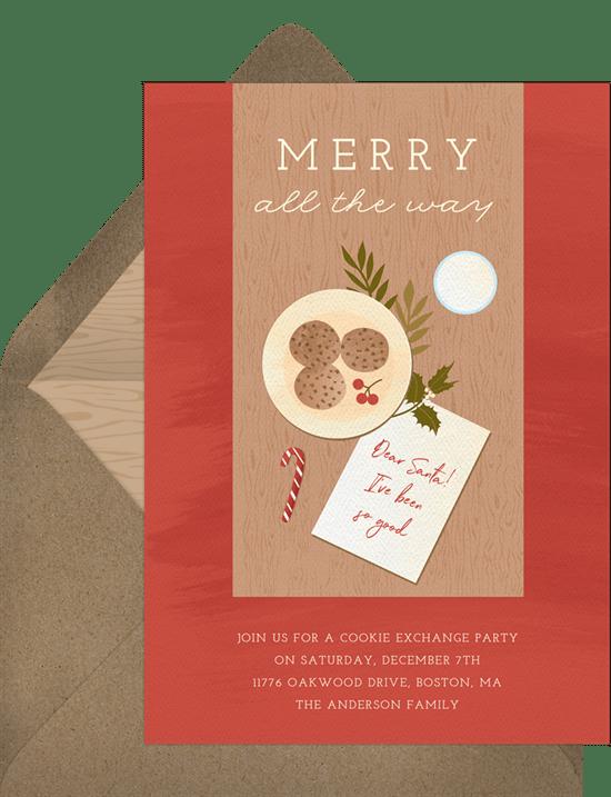 Cookies For Santa Invitations Greenvelope Com