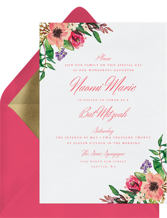 coral florals invitations in pink greenvelope com