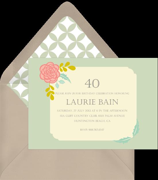 corner blossom invitations greenvelope com