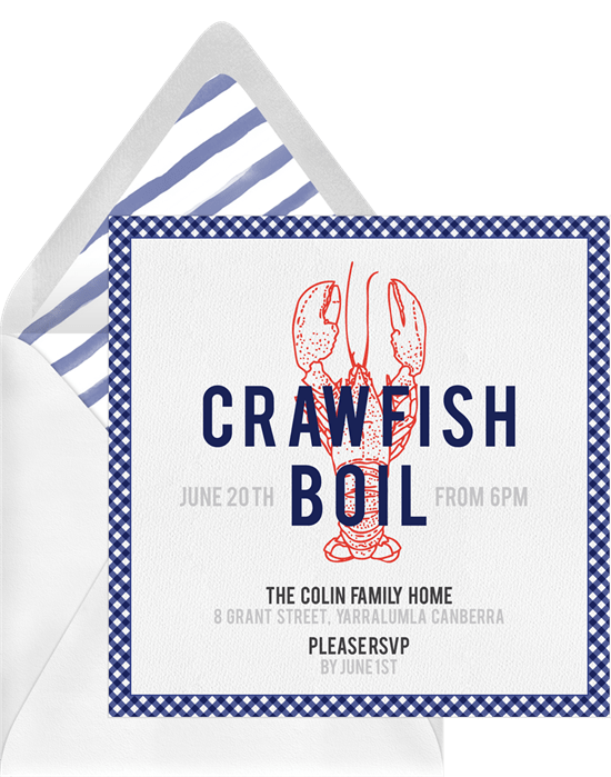 Crawfish Time Invitations Greenvelopecom