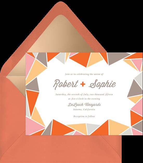 crystal border invitations in orange greenvelope com