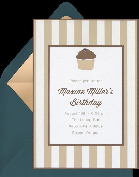 cupcake gem invitations creme o531~16 cupcake gem invitations in creme greenvelope com,Gem Invitations