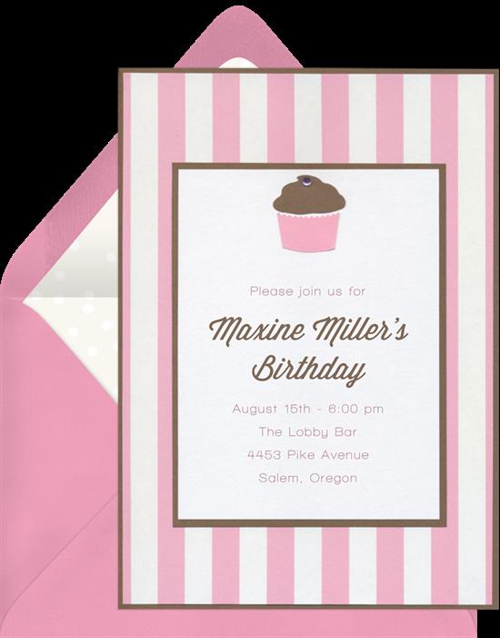 cupcake gem invitations pink o527~16 cupcake gem invitations in pink greenvelope com,Gem Invitations