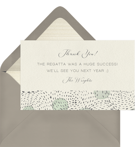 Dot And Dash Thank You Notes in Green | Greenvelope com
