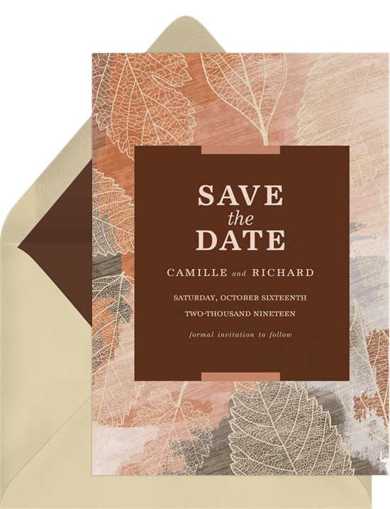 essence of autumn save the dates in red greenvelope com