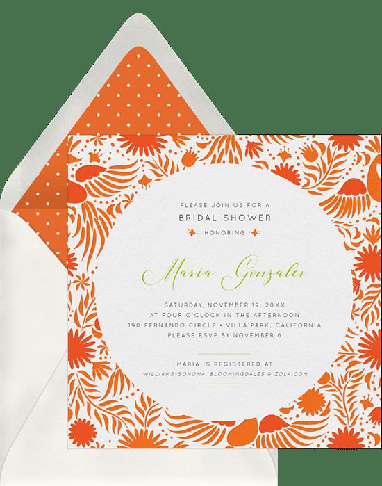 Festive Fiesta Invitations in Orange Greenvelopecom
