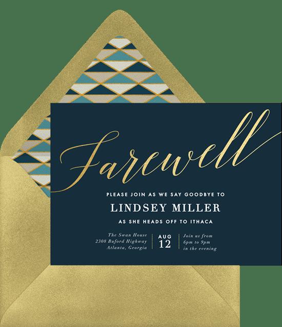 farewell invitation