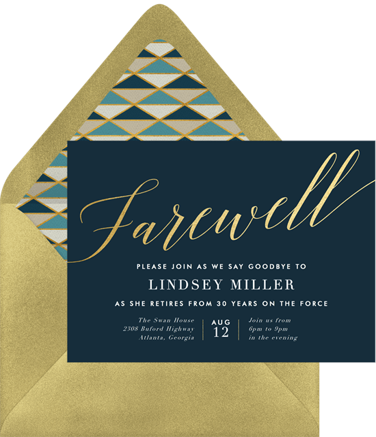 final farewell invitations in blue greenvelope com