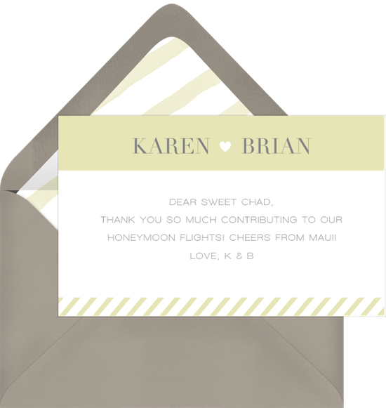 flight of fancy thank you notes in green greenvelope com