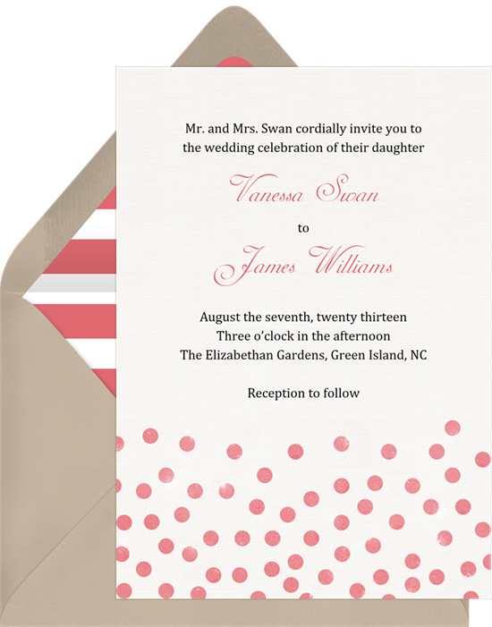 floating dots invitations in pink greenvelope com