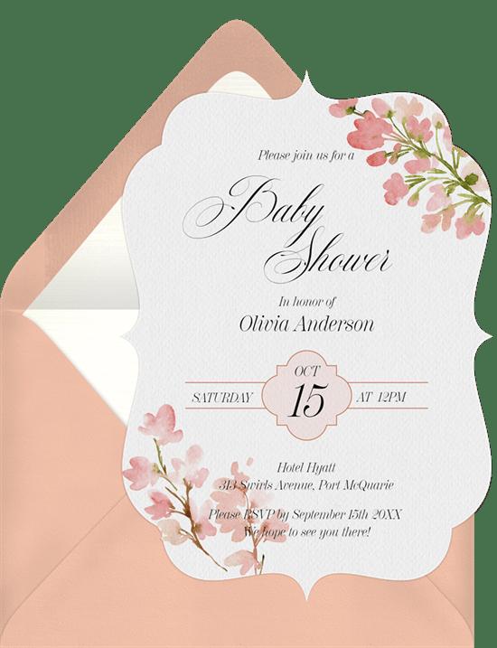 floral bat mitzvah invitations greenvelope com