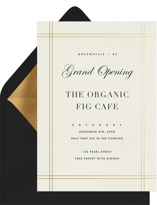 formal pinstripe frame invitations in white greenvelope com