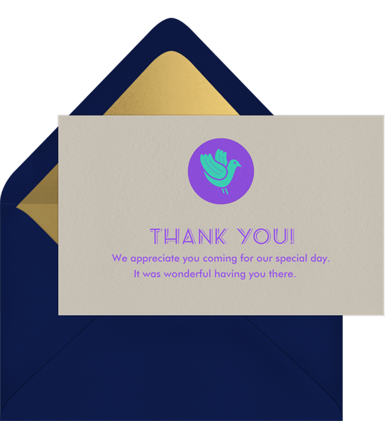 Fountain Lovebirds Thank You Notes | Greenvelope com