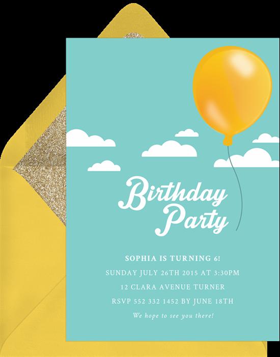 free balloon invitations in orange greenvelope com