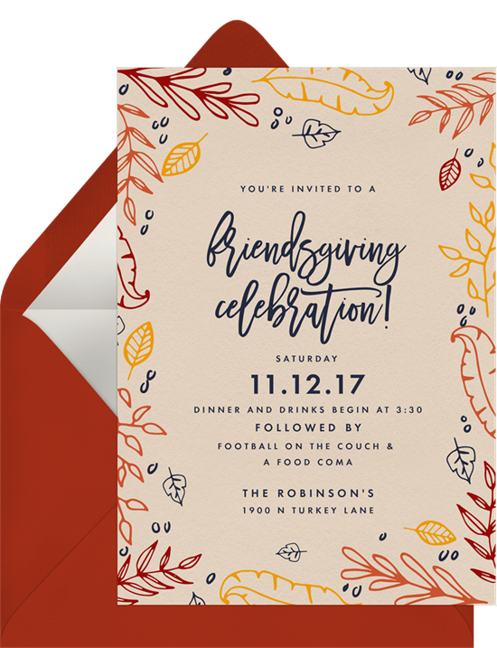 friendsgiving celebration invitations greenvelope com