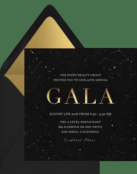 Galaxy Gala Invitation