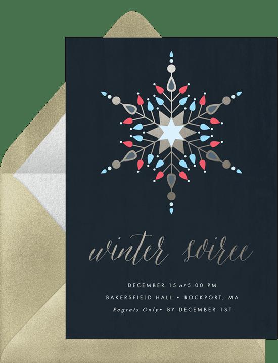 geometric snowflake invitations greenvelope com
