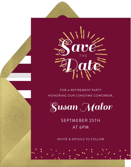 gold burst save the dates in purple greenvelope com