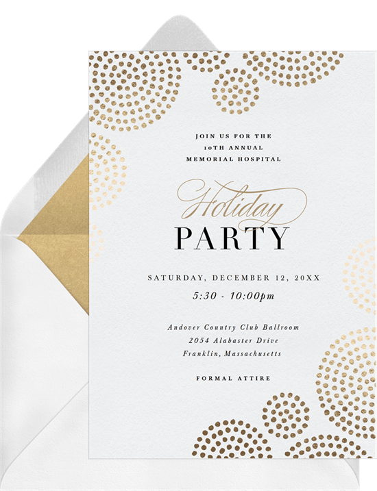 golden circles invitations in white greenvelope com