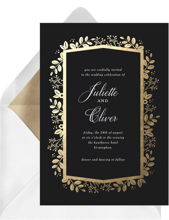 golden leaves invitations greenvelope com