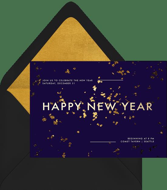 new year invitation
