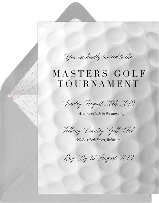 Golf Ball Invitations Greenvelopecom