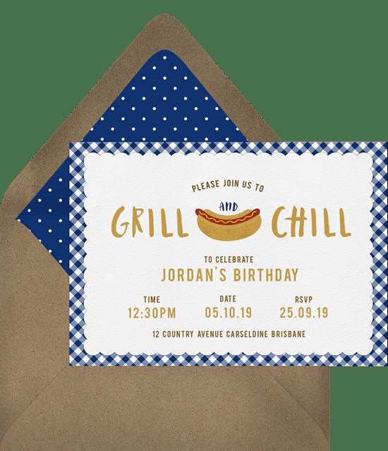 grill chill invitations greenvelope com