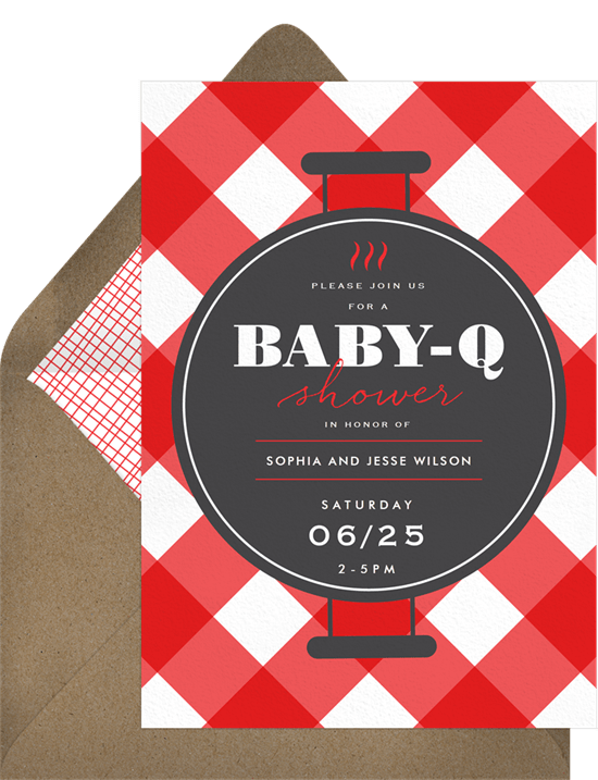 grill and chill invitations in red greenvelope com
