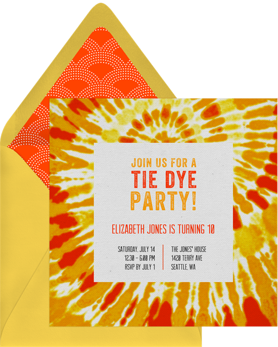 tie dye party images parties on printable invitations tie dye party a great 9 year old birthday idea momof6 dye birthday party invitations peace love tie