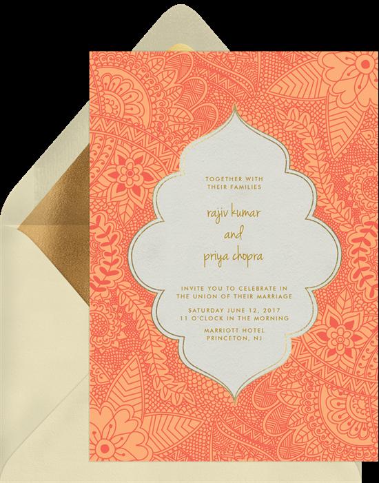 henna invitations greenvelope