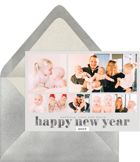 happy new year collage card