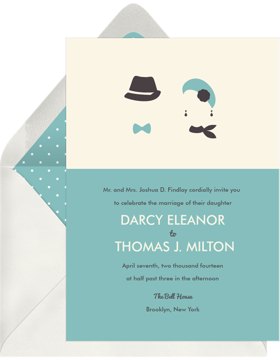 his and hers invitations greenvelope com