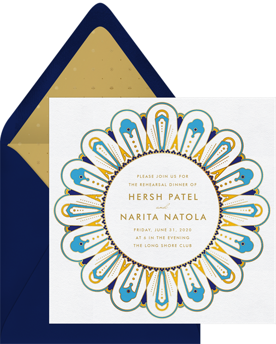 indian sunflower invitations in blue greenvelope com