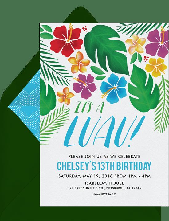 it s a luau invitations greenvelope com