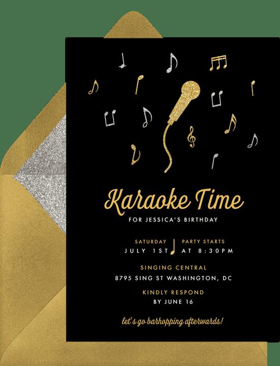 Karaoke Night Invitations Greenvelope Com