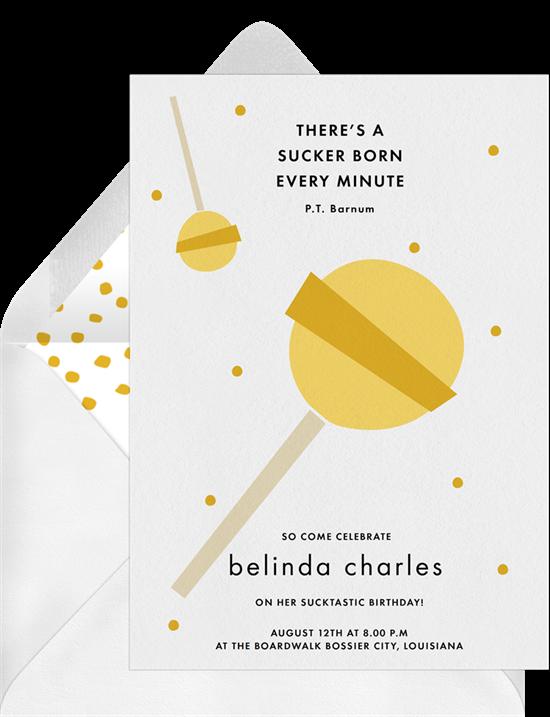 lollipop polka dots invitations in yellow greenvelope com
