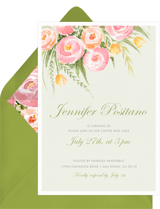 lovely rose bouquet invitations greenvelope com