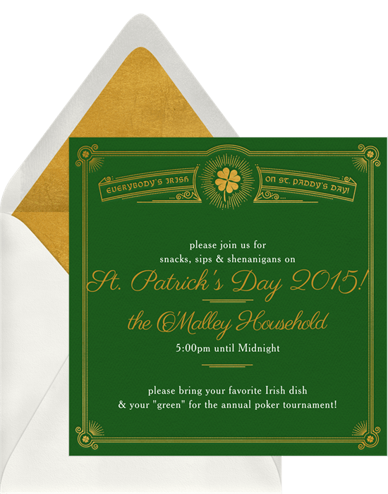 luck o the irish invitations greenvelope com